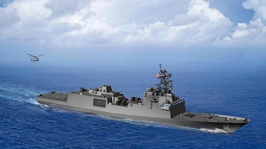 Cận cảnh tàu khu trục lớp tối tân mới nhất của Hải quân Mỹ