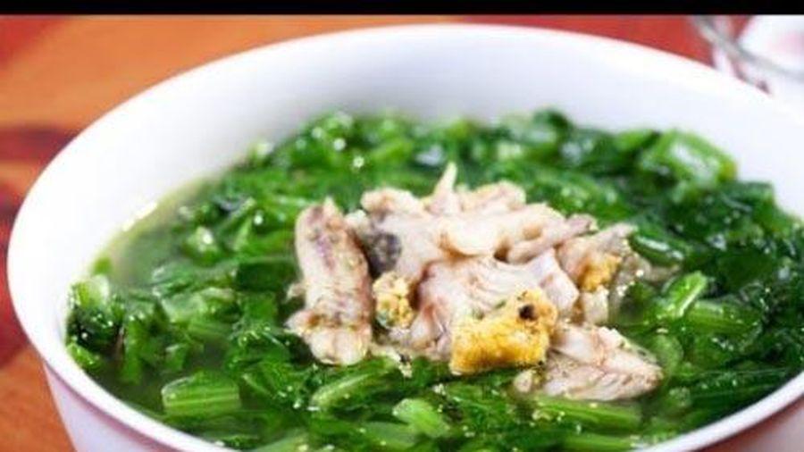 Cá lóc nấu canh cải - món ăn ngon là thần dược cho sức khỏe