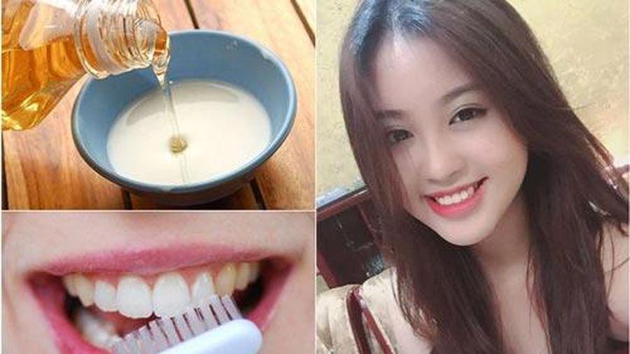 Răng trắng tại nhà chỉ bằng cách đơn giản