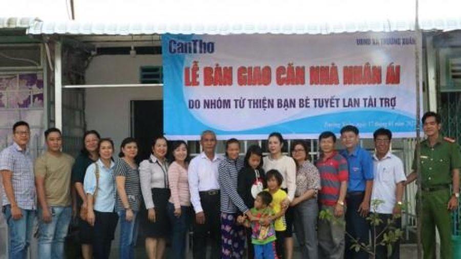 Báo Cần Thơ bàn giao căn nhà nhân ái cho hộ nghèo ở xã Trường Xuân, huyện Thới Lai
