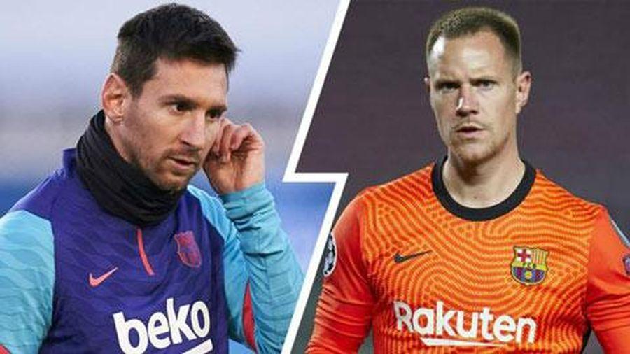 Tiếp tục lộ bằng chứng Messi mâu thuẫn với Ter Stegen