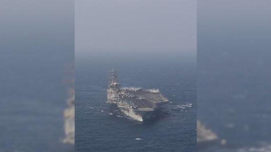 Tên lửa tầm xa của Iran nổ gần vùng biển có tàu tác chiến sân bay Mỹ