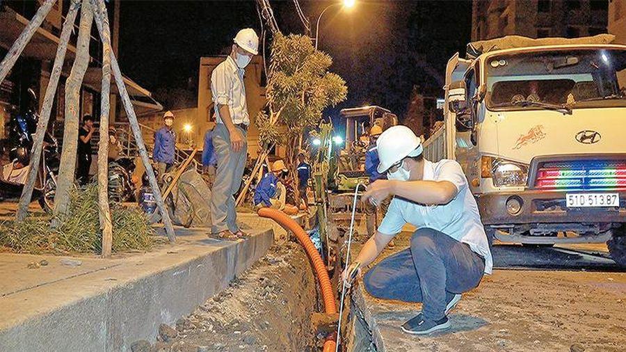 Đẩy nhanh tiến độ ngầm hóa lưới điện và cáp viễn thông