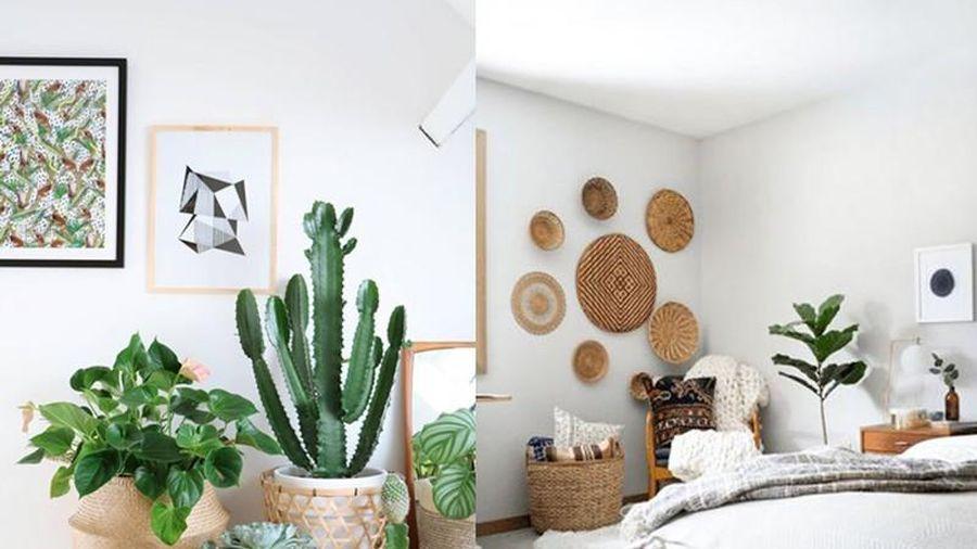 5 ý tưởng trang trí bằng giỏ đan lát giúp nhà thêm phong cách