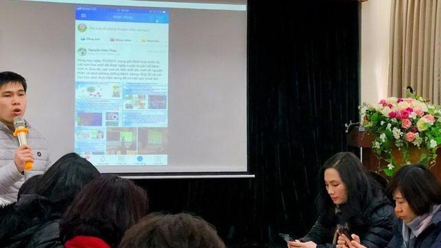 Hà Nội: Các trường đẩy mạnh tập huấn ứng dụng liên lạc điện tử eNetViet