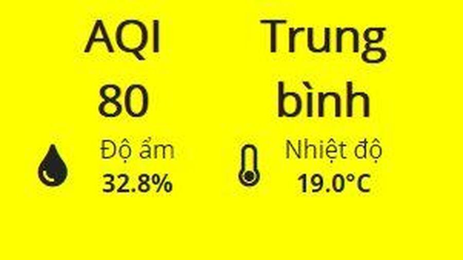 Sau 6 ngày liên tiếp ở mức đỏ và tím, chất lượng không khí của Hà Nội đã chuyển vàng