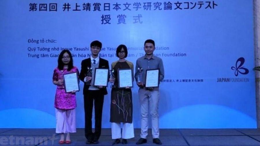Nhật Bản trao Giải thưởng Inoue Yasushi cho các nhà nghiên cứu văn học của Việt Nam