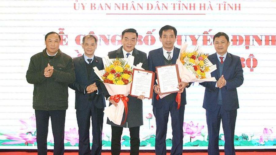 Công bố quyết định bổ nhiệm 2 Phó Giám đốc Sở Y tế Hà Tĩnh