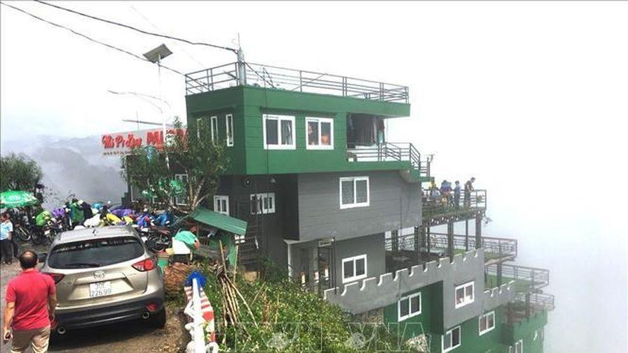 Đề nghị tạm dừng hoạt động tại công trình Panorama trên đèo Mã Pì Lèng