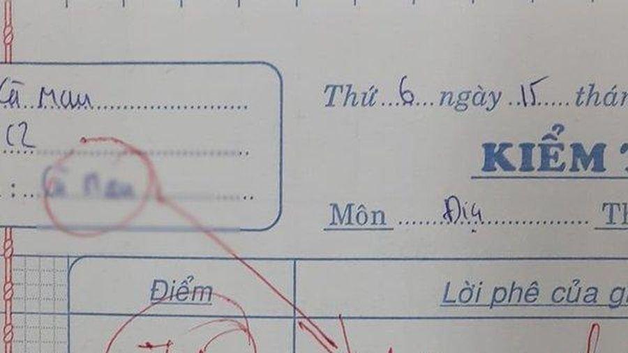 Tranh cãi lý do bài kiểm tra bị trừ thẳng tay từ 7,5 xuống 0 điểm