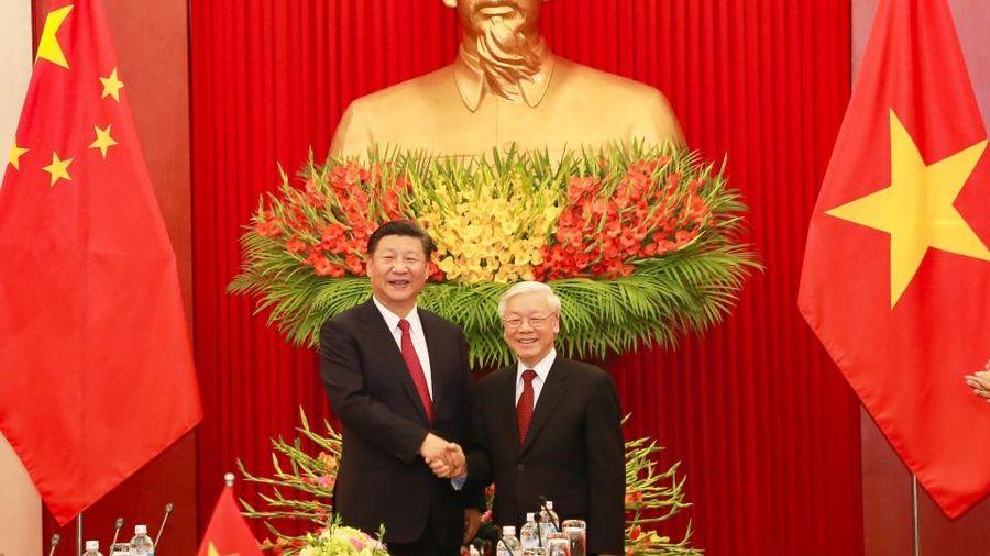 Lãnh đạo Việt - Trung trao đổi điện mừng nhân 71 năm quan hệ ngoại giao