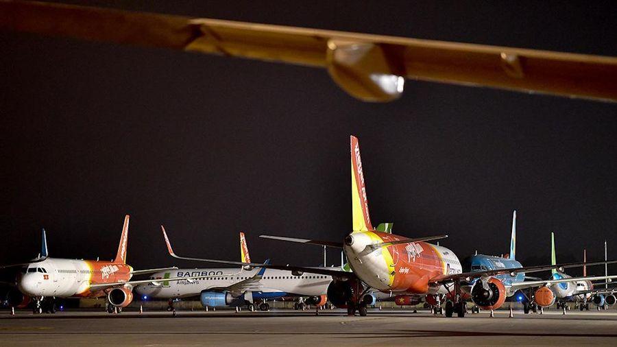 Lượng tàu bay bảo quản dừng bay tiếp tục tăng cao
