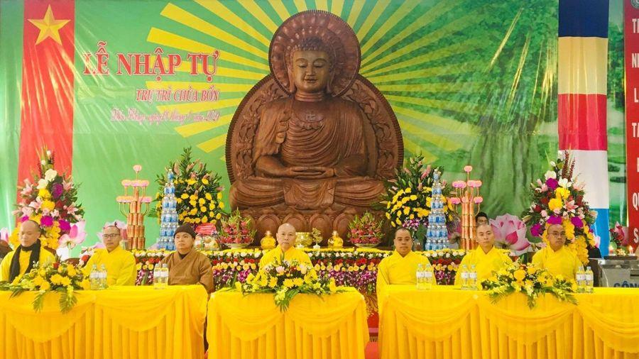 Lễ nhập tự và an vị tượng Phật tại chùa Bốn