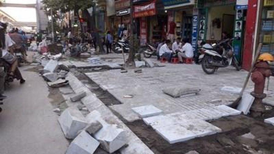 Tạm dừng thi công đào đường trên địa bàn Hà Nội