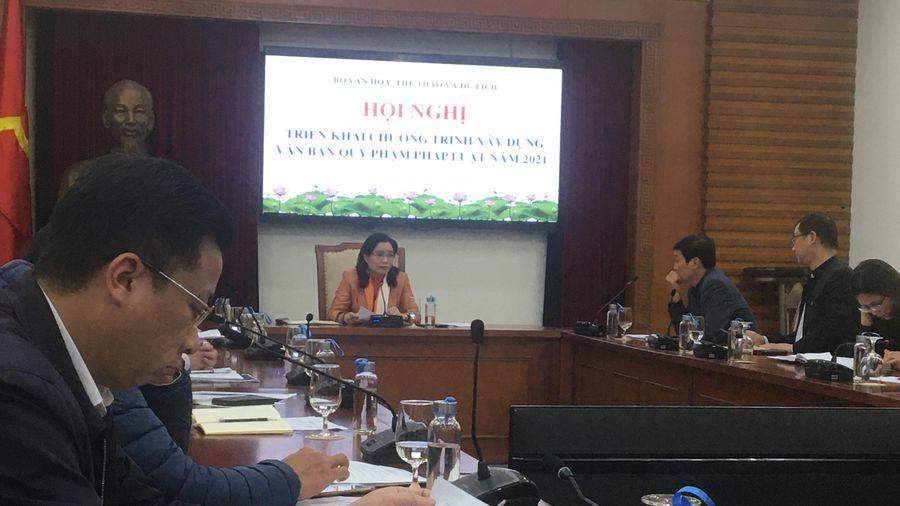 Bộ VHTTDL: Triển khai chương trình xây dựng văn bản quy phạm pháp luật năm 2021