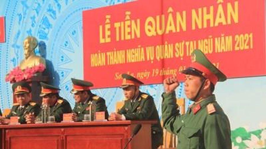 Sơn La, Điện Biên: Tiễn quân nhân hoàn thành nghĩa vụ quân sự