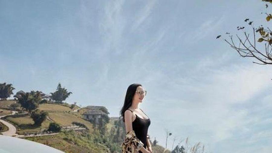 Hoa hậu Giáng My diện bikini khoe dáng giữa thời tiết giá rét