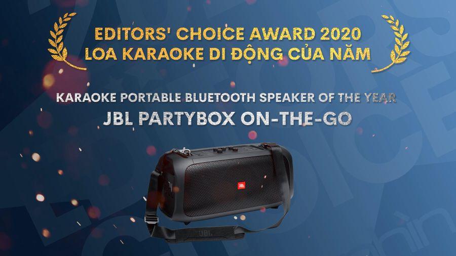 Editors' Choice Awards 2020 JBL PartyBox On-The-Go - LOA KARAOKE DI ĐỘNG CỦA NĂM