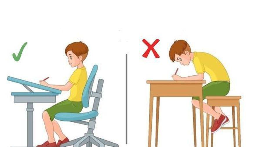 Hướng dẫn ngồi đúng tư thế giúp phòng tránh cận thị hiệu quả