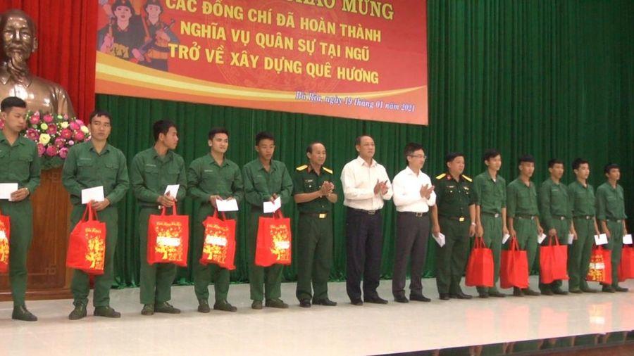 TP. Bà Rịa: Đón 136 quân nhân hoàn thành nghĩa vụ quân sự