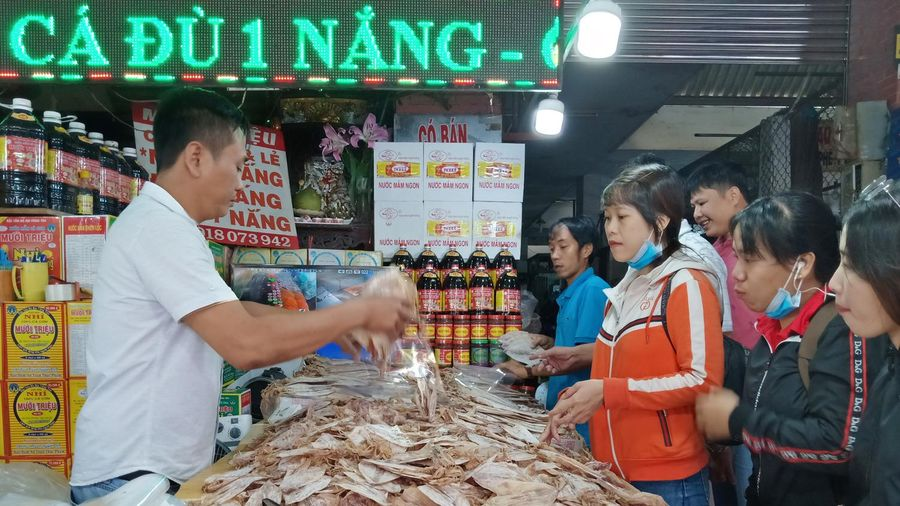 Sức mua hải sản khô tăng nhẹ