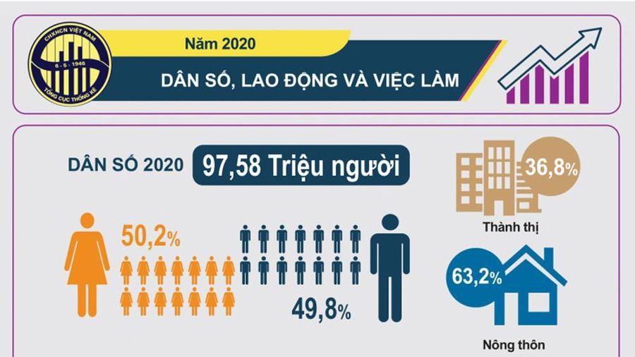 Infographic: Dân số, lao động và việc làm năm 2020