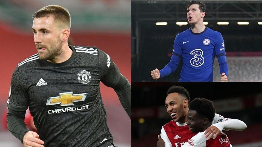 Đội hình hay nhất vòng 19 Premier League: Luke Shaw khiến MU 'mát mặt'