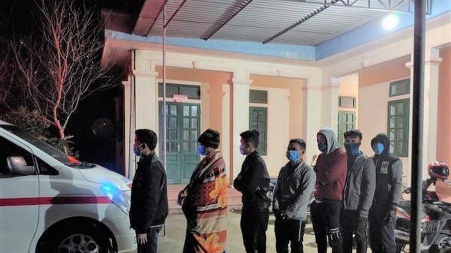 Biên phòng Nghệ An phát hiện 7 người nhập cảnh trái phép trong đêm