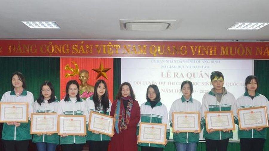 Quảng Bình: Kết quả thi học sinh giỏi quốc gia cao nhất trong 10 năm