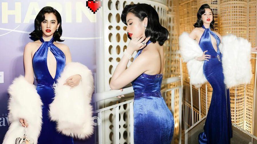 Người đẹp Cẩm Đan diện váy xẻ ngực sâu táo bạo