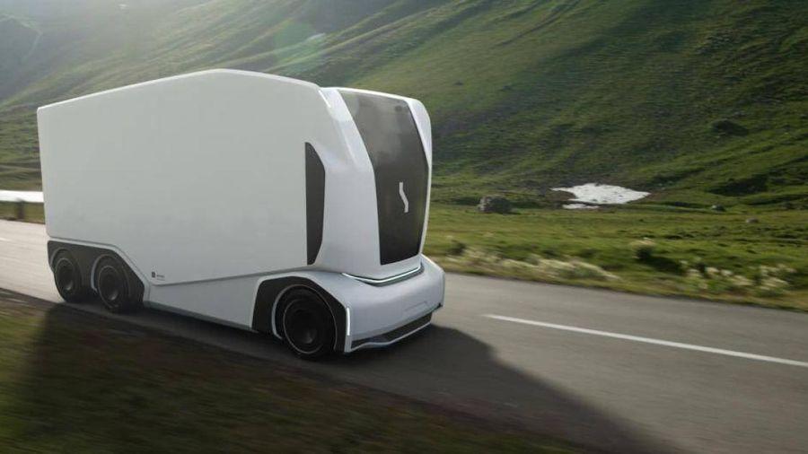 Cận cảnh mẫu xe tải chạy điện không người lái