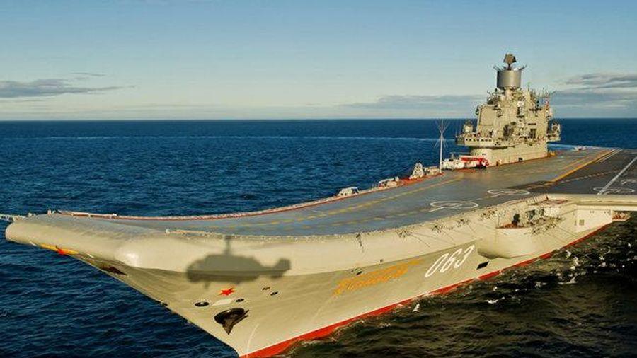 Tàu sân bay 'Đô đốc Kuznetsov' tròn 30 năm gia nhập Hải quân Nga