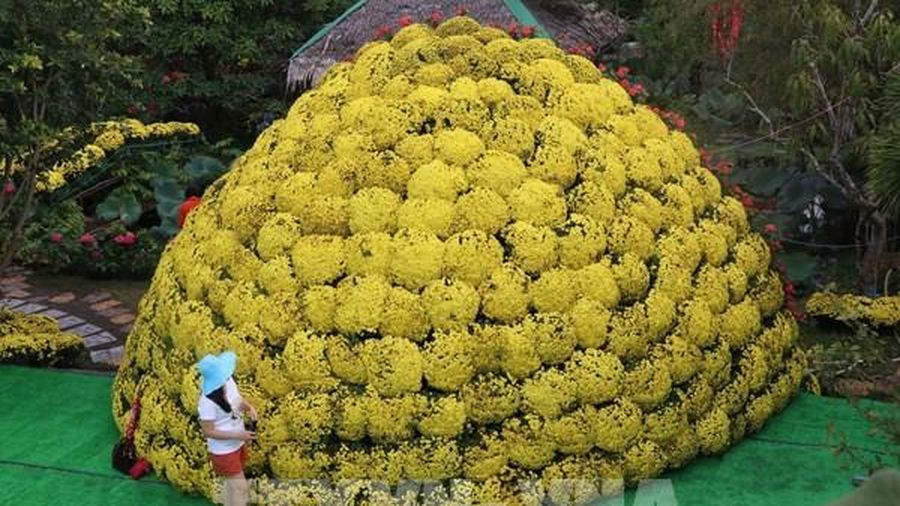 Mô hình bó hoa cúc mâm xôi được xác lập kỷ lục lớn nhất Việt Nam