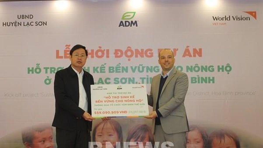 Tập đoàn ADM hỗ trợ gói sinh kế bền vững cho các hộ nông dân tỉnh Hòa Bình