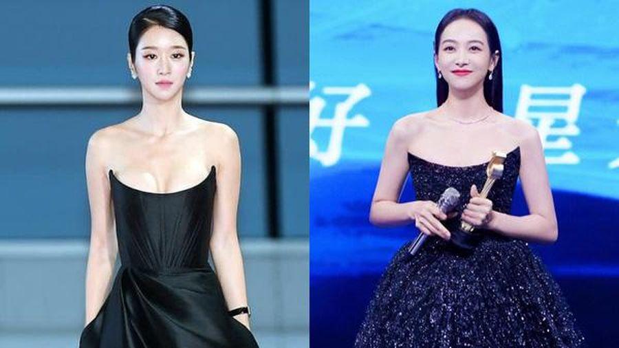 Tống Thiến đụng kiểu váy với Seo Ye Ji, chẳng cần 'chơi chiêu' nhưng vẫn lộng lẫy hơn 'điên nữ' xứ Hàn