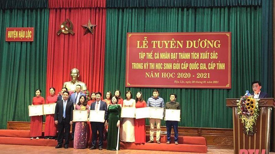 Hậu Lộc: Tuyên dương 308 tập thể, cá nhân đạt thành tích cao trong kỳ thi chọn học sinh giỏi cấp Quốc gia, cấp tỉnh