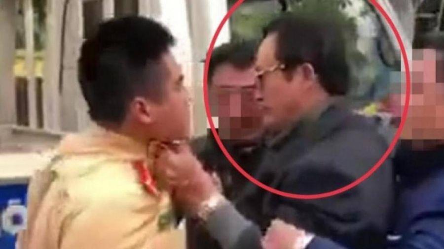Vi phạm đã rõ, sẽ xử lý nghiêm Chi cục trưởng túm áo CSGT ở Tuyên Quang