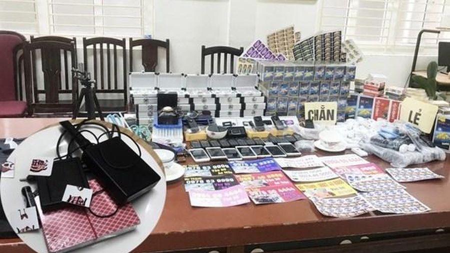 Hà Nội: Phát hiện kho thiết bị cờ bạc bịp