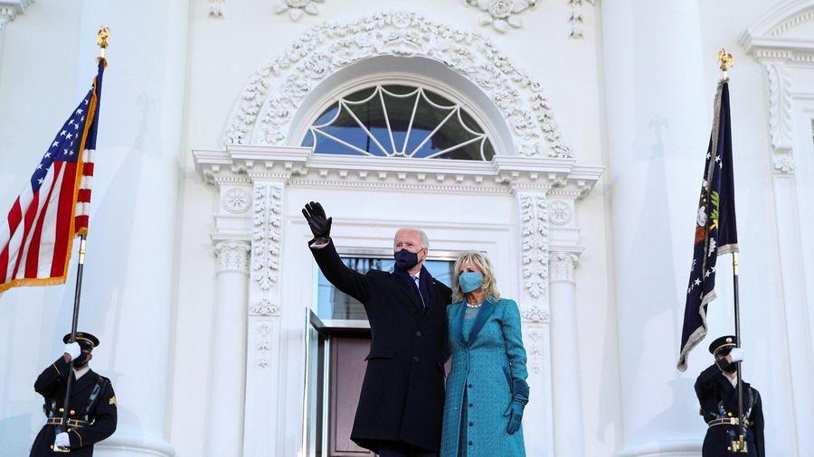 Ông Biden lần đầu vào Nhà Trắng với tư cách tổng thống Mỹ