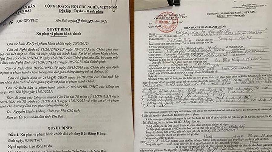 Yên Bái: Lái xe đầu tiên bị phạt hơn 40 triệu đồng vì vi phạm nồng độ cồn
