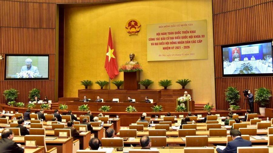 Bộ Chính trị tổ chức hội nghị trực tuyến toàn quốc về triển khai công tác bầu cử