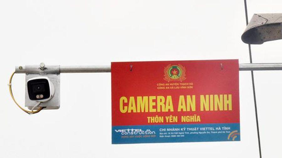 Thôn đầu tiên của Thạch Hà xã hội hóa lắp đặt camera an ninh