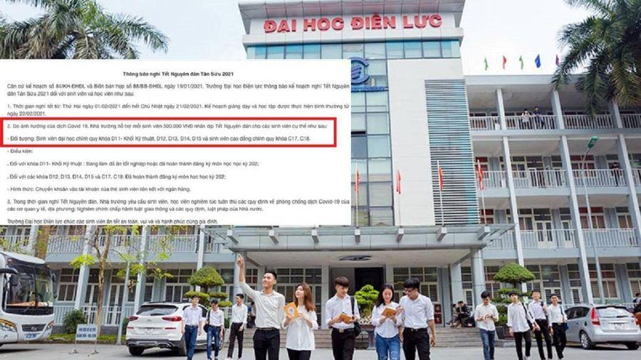 Một trường đại học 'mừng tuổi' sinh viên 500.000 đồng nhân dịp Tết Nguyên đán
