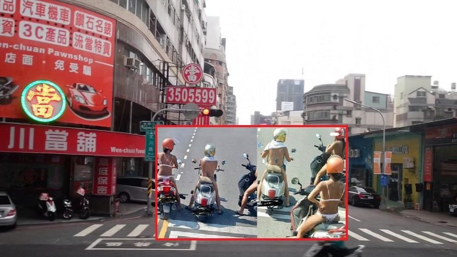 Ba cô gái diện đồ 'mát mẻ', điều khiển xe máy lưu thông trên đường khiến nhiều người 'nhức mắt'