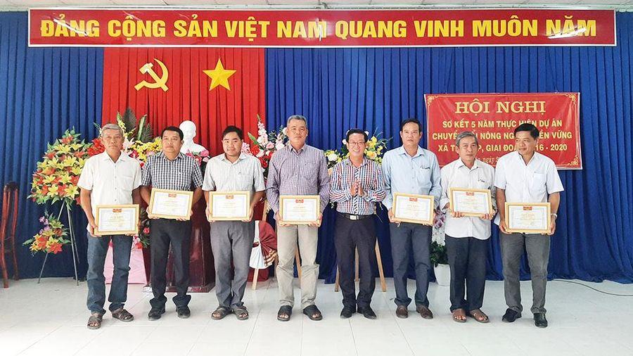 Sơ kết 5 năm thực hiện Dự án 'chuyển đổi nông nghiệp bền vững' trên địa bàn xã Tân Lập