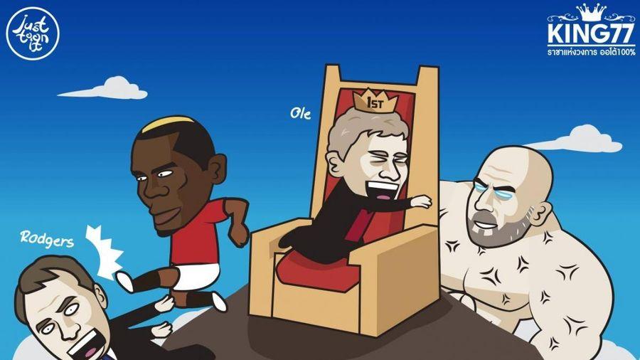 Biếm họa 24h: Pogba đá bay Rodgers, đưa Solskjaer lên đỉnh BXH