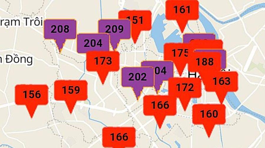 Hà Nội: 10 khu vực chất lượng không khí rất xấu