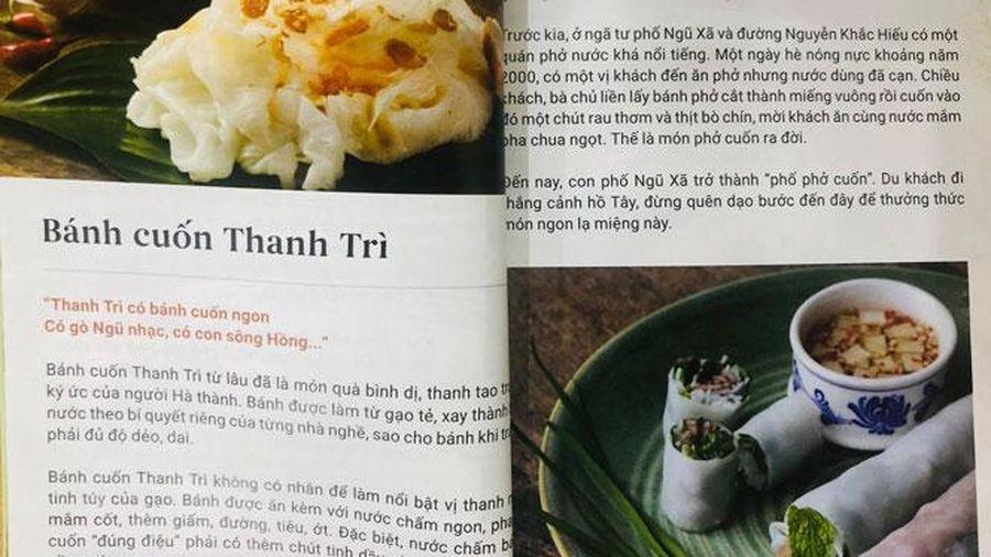 Ấn phẩm quảng bá ẩm thực Hà Nội
