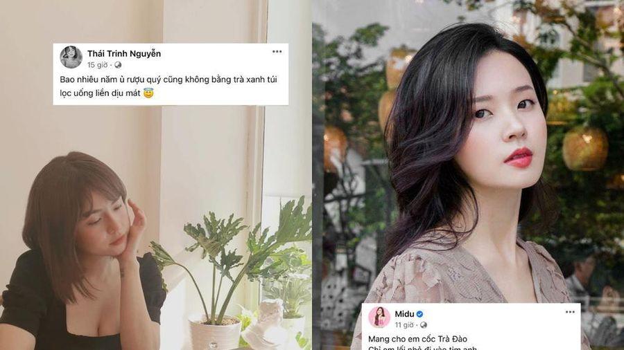 Chỉ sau một ngày, cụm từ 'trà xanh' bồng thành trend trên status của sao Việt