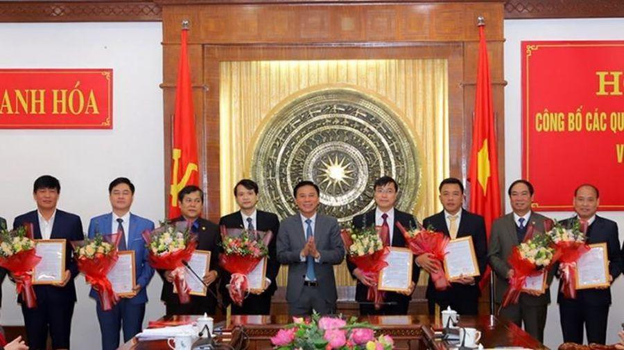 Tỉnh ủy Thanh Hóa bổ nhiệm nhiều cán bộ